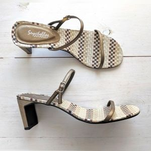 Seychelles strappy metallic leather sandals 8.5